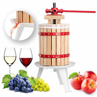 Pressoir À Baies Fruit Jus Manuel Presse Mécanique Pommes Vin Bois De Chêne