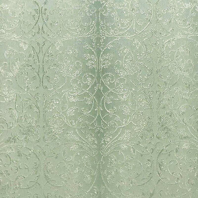 Damask ombre mint green gold embossed
