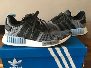100% authentic 74bb3 e136f Details about Adidas NMD R1 S79159 Grey/Black/Clear Blue sneakers Nomand  size 9 UK / 9.5 US