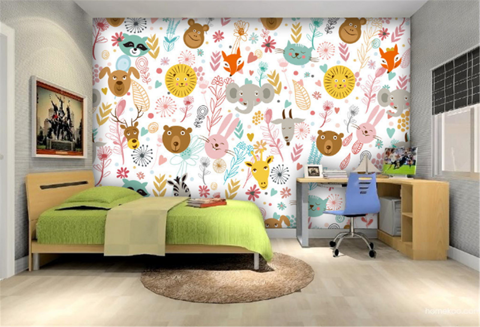 3D Karikatur Tier Gekritzel 79 Tapete Wandgemälde Tapeten Bild Familie DE Lemon | Verkauf Online-Shop  | Online Kaufen  | Große Klassifizierung
