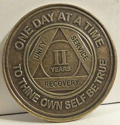 Alcoholic 8 Year Recovery One Day Chip-Medallion Coin Medal Token AA Anonymous