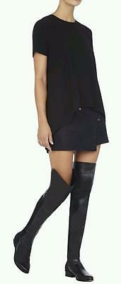 BCBG MAXAZRIA~$450.00~LEATHER *SLINK* OVER-THE-KNEE TALL RIDING FLAT BOOTS~11
