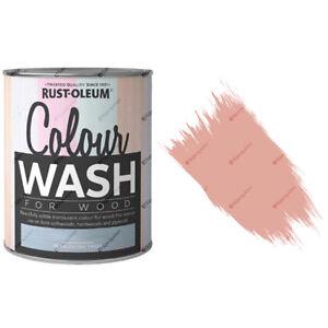 X22-Rust-Oleum-Farbe-Wasch-durchsichtiger-farbig-Holz-Fleck-750ml-Koralle-Frost