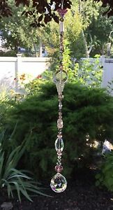 Healing Pink Czech Crystal Swarovski Element Suncatcher/Pri<wbr/>sm Crystal Ball USA