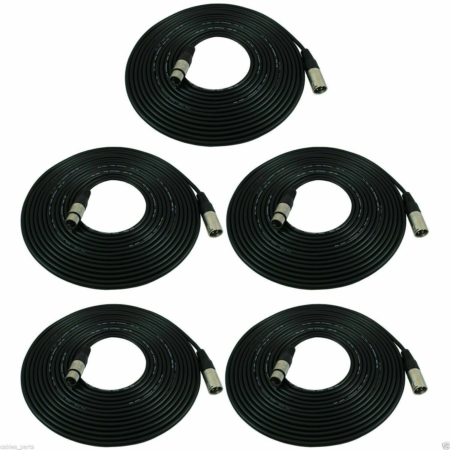 5pcs 25 Ft 25FT xlr male female 3pin MIC Shielded Cable microphone audio cord bk. Buy it now for 25.99
