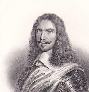 Portrait-XIXe-Turenne-Henri-de-la-Tour-d-039-Auvergne-Vicomte-de-Turenne