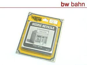 Woodland-H0-D222-Bausatz-Ticket-Office-Fahrkartenschalter-Buero-Neu-B-WARE