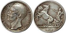 ITALIE 10 LIRE 1928 R * FERT * KM#68.1