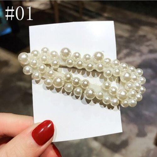 Popular Korean Pearl Hair Clip Slide Hair Pin Barrette Bridal Hair Accessory UK