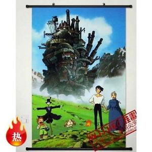 Home Decor Wall Poster Scroll Howl 39 S Moving Castle Japan