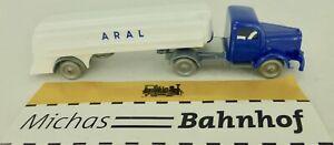 Aral-Bleu-Blanc-Camion-Citerne-Mercedes-5000-Camion-imu-Replique-Serie-1-87-A