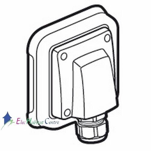 Sortie de câble étanche encastré gris Plexo 20//32A Legrand 69850
