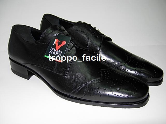 ROSSI scarpe eleganti da cerimonia 567 42,5 MISSISSIPI NERO uomo n° 42,5 567 70397a