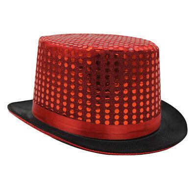 6x Rosso Con Paillettes Top Hat Cabaret Circus Maestro Della Campanella Costume Accessorio-mostra Il Titolo Originale Per Prevenire E Curare Le Malattie