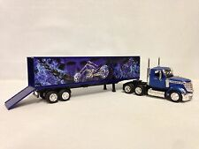 INTERNATIONAL LONESTAR, w/CONTAINER (SKELETON,CHOPPER GRAPHIC) 1:43 NEW RAY TOYS