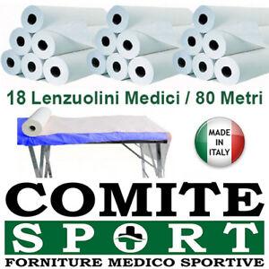 Rotolo Carta Lettino Massaggio.18 Lenzuolini Medici H60x80mt Rotoli Carta Lettino 2 Veli