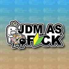 "JDM As Fck F*CK Sticker Bomb Stance Lower 8"" Custom Vinyl Decal Sticker"