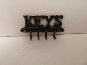 Melody Jane Dollhouse Key Rack Antique Brass Wall Hall Kitchen Accessory