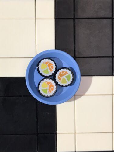 Lego Minifigure Food Utensil 3 Shushi In A Dish Accessories