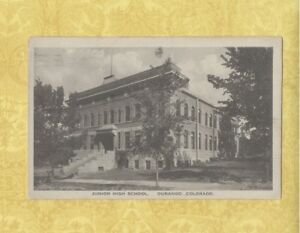 CO-Durango-1908-29-Antique-postcard-JUNIOR-HIGH-SCHOOL-COLORADO-EDUCATION