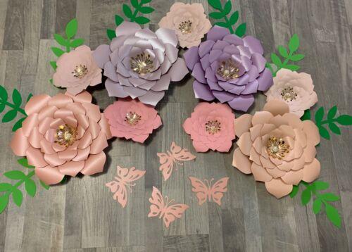 Wall Decor Handmade Paper Flowers Nursery Decor Paper Flowers