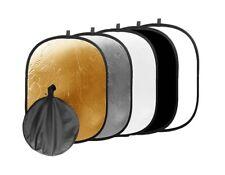 2in1 Handreflektoren in Gold und Silber zusammenfaltbar rund Ø 40cm