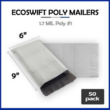50 6x9 Ecoswift Poly Mailers Plastic Envelopes Shipping Mailing Bags 17mil