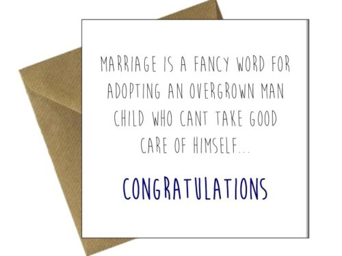 ENGAGEMENT WEDDING CARDS OCCASION Comedy Funny Humour Cheeky Congratulations //GB
