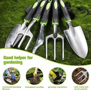 5Pcs Durable Gardening Tool Set Heavy Duty Aluminum Garden Tools US