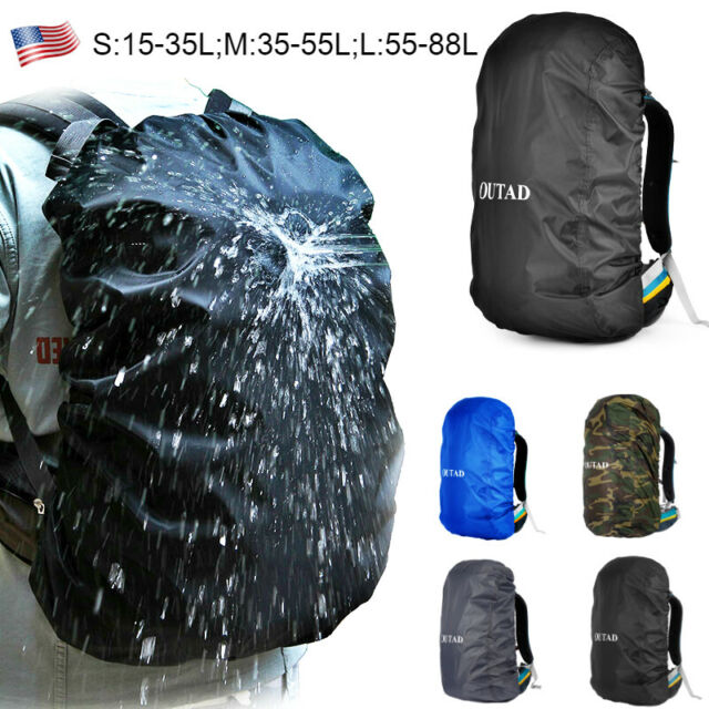 Waterproof Polyester Dust Rain Cover Travel Hiking Backpack Camping Rucksack Bag