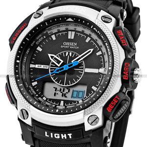 6f1888efc52f OHSEN Waterproof Digital LCD Alarm Date Military Rubber Mens Sport ...