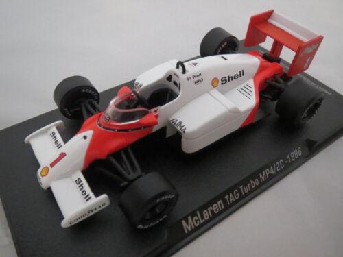 1:43 top! RBA Collectables mclaren día turbo mp4//2c 1986 coches de carreras fórmula
