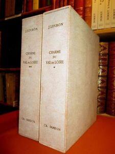 Charme-du-Val-de-Loire-complet-des-deux-volumes-illustres-de-38-gravures-de-Sam