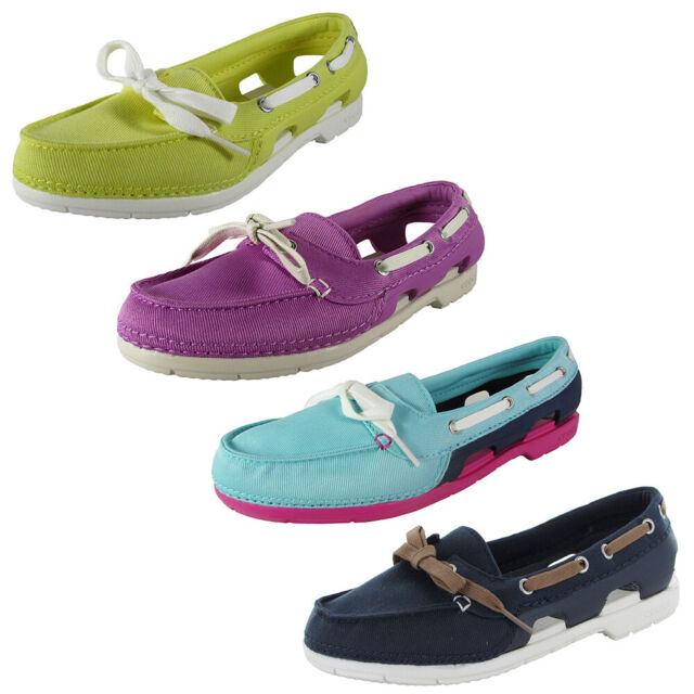 Crocs Womens Beach Line Hybrid Lace Up Boat Shoes for sale online | eBay