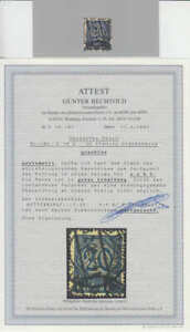 Deutsches-Reich-DR-Michel-Nr-Dienst-19-b-gestempelt-o-mit-Fotoattest-034-Bechto