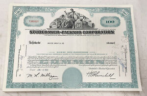 Studebaker-Packard-Corporation-100-Share-Stock-Certificate-1961