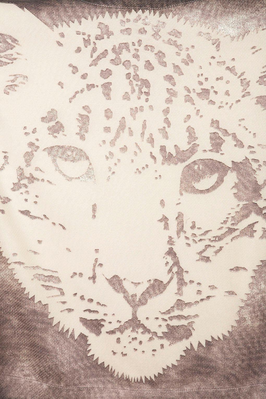 Topshop Marronee Metallizzato tigre di di di fronte Tee Top Camicetta EURO 42 US 10 NUOVO CON ETICHETTA ddc144