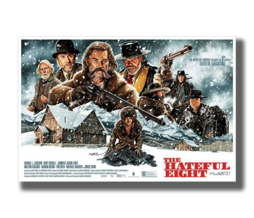 Quentin Tarantino The Hateful Eight Classic Fabric Poster Art TY247-24x36 Inch