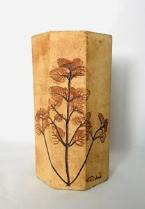 Vase-les-herbiers-signe-R-Leduc-Circa-1950-Vallauris-Capron-Accolay-Mid-century