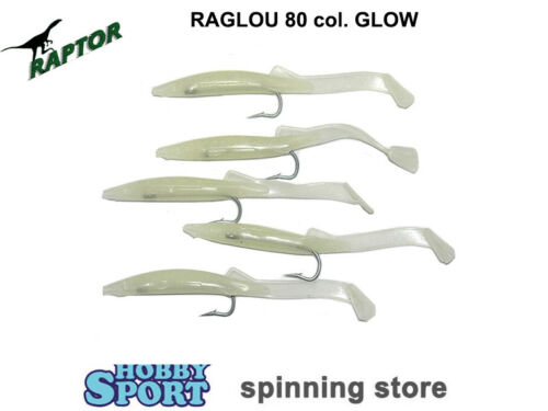 RAGLOU RAPTOR mm 80 COLORE GLOW conf 5 pz SPINNING TRAINA MARE