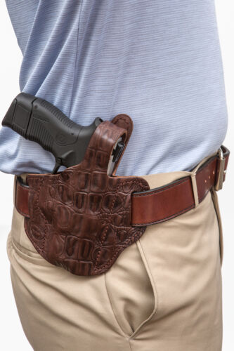 On Duty Conceal RH LH OWB Leather Gun Holster For CZ P01 Compact