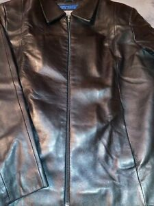 Wilsons-Pelle-Studio-Soft-Leather-Black-Jacket-Thinsulate-Liner-Mens-Large