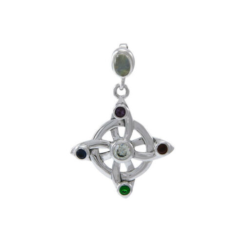 Elemental Witches Knot .925 Sterling Silver Pendant Peter Stone