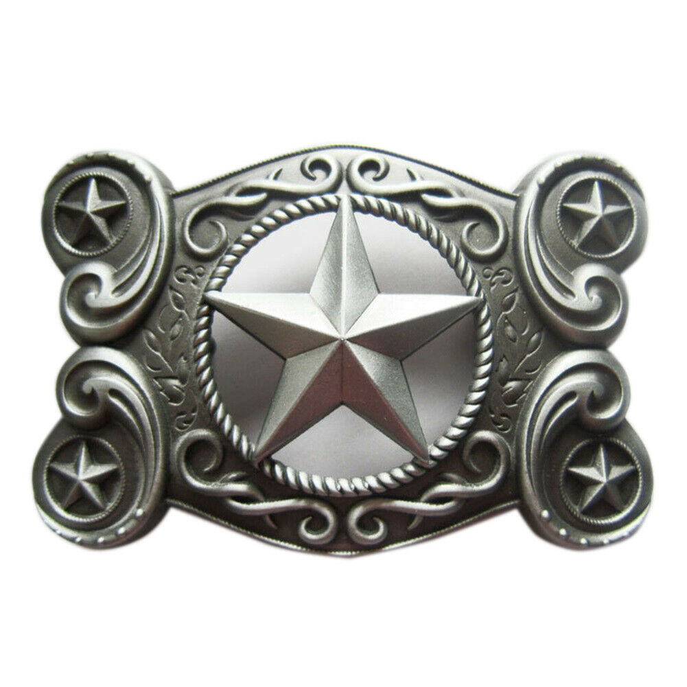 Western Star VII Belt Buckle Sherriff Sheriff Star Sheriff's Badge Cowboy Saloon