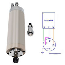 12kw High Speed Spindle Motor Water Cooled Er11 62202mm 220v For Router Cnc