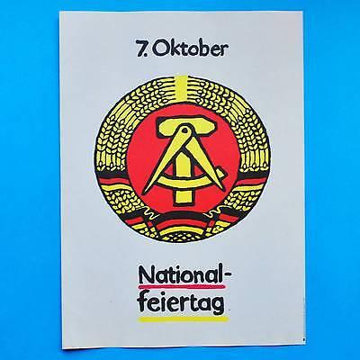 Billiger Preis Ddr Plakat Poster 539 | 7. Oktober Nationalfeiertag 1987 | 40 X 29 Cm Original