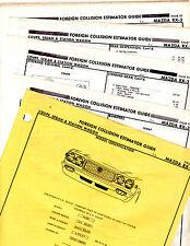 MAZDA RX-3 COUPE SEDAN WAGON BODY PARTS LIST FRAME ORIGINAL RARE CRASH SHEETS MF