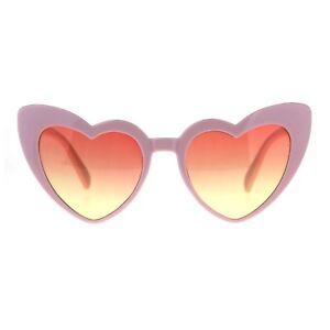 a98d1bcae3 Image is loading Cateye-Heart-Shape-Sunglasses-Womens-Cute-Lolita-Fashion-