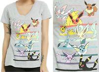 Pokemon Eevee Evolutions T-shirt For Juniors Licensed Nintendo Free Ship