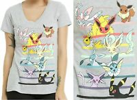 Pokemon Eevee Evolutions T-shirt For Juniors Licensed Nintendo Free Ship